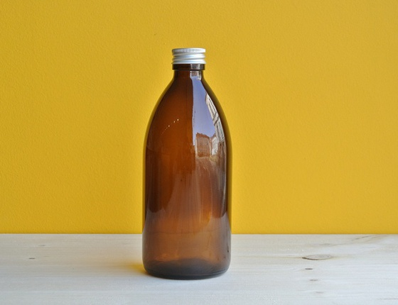 Flacon en verre teinté 500 ml