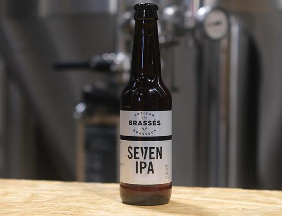 """Bière brasserie Les Brassés """"Seven IPA"""" 33cl bio & locale"""