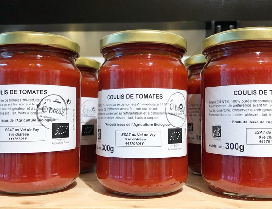 Coulis de tomates bio & local