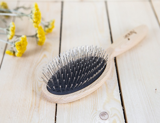 Brosse à cheveux avec picots en inox