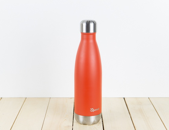 Bouteille inox 500ml couleur rouge