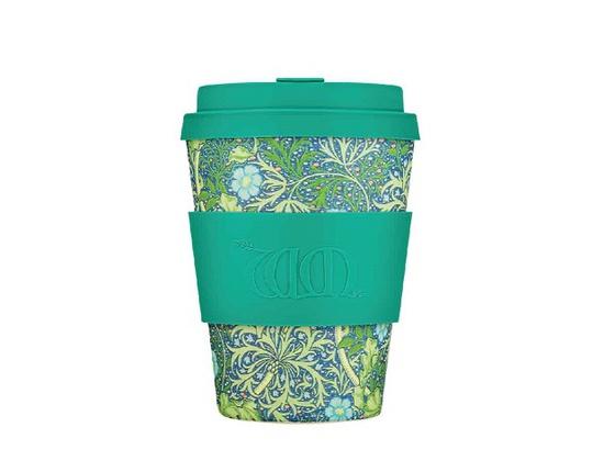 Tasse à café en bambou 350 ml motif turquoise