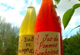 Jus de pomme & framboise en conversion bio & local