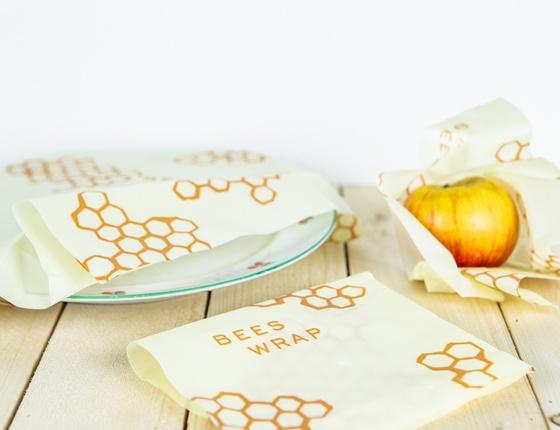 Emballage à la cire d'abeille : lot de 3 tailles S-M-L
