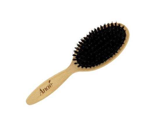 Brosse à cheveux en poils de sanglier