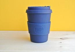Tasse à café réutilisable en bambou coloris bleu 340ml