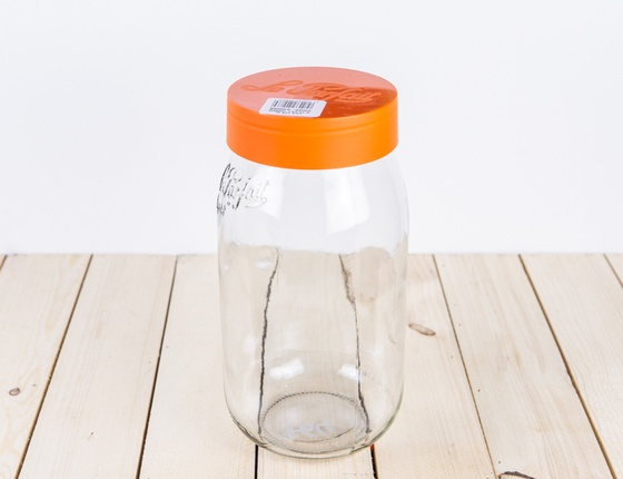 Bocal Le Parfait à vis orange 2 litres