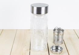 Théière isotherme en verre avec mandalas 320 ml