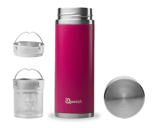 Théière inox 400 ml isotherme magenta