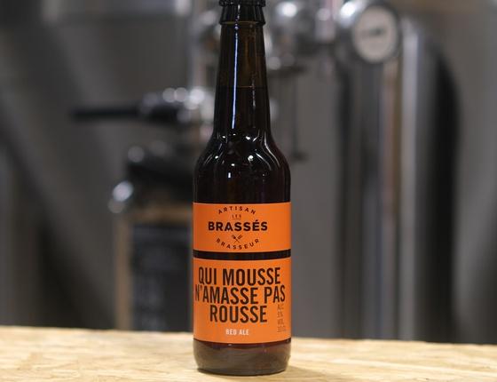 """Bière brasserie Les Brassés """"Qui mousse n'amasse pas rousse"""" 33cl bio & locale"""