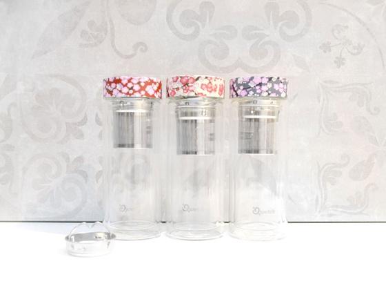 Théière isotherme en verre motifs 320 ml