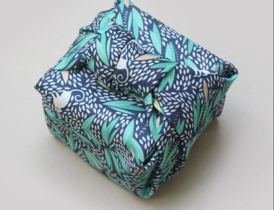 Furoshiki emballage cadeau réutilisable motif Monkey