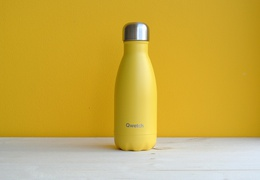 Bouteille inox 260 ml isotherme jaune pop