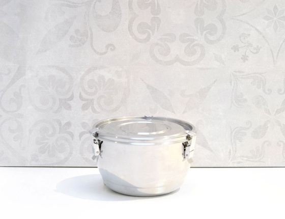Boite inox  diamètre 14 cm