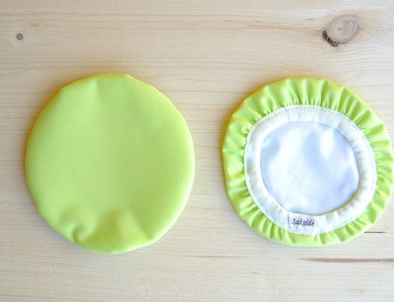 Couvre-plat 14 cm en tissu ciré vert