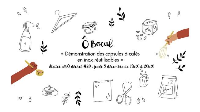 Atelier zérÔ déchet #20 : Démonstration des capsules à cafés en inox réutilisables