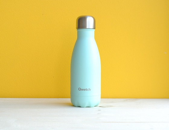 Bouteille inox 260 ml isotherme vert pastel