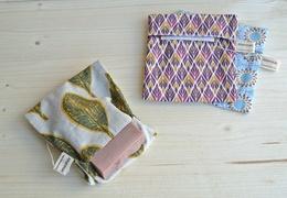 Pochette à savon en coton doublé