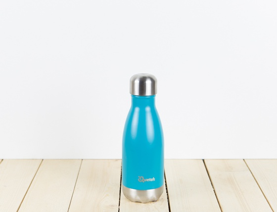 Bouteille inox 260 ml isotherme bleu