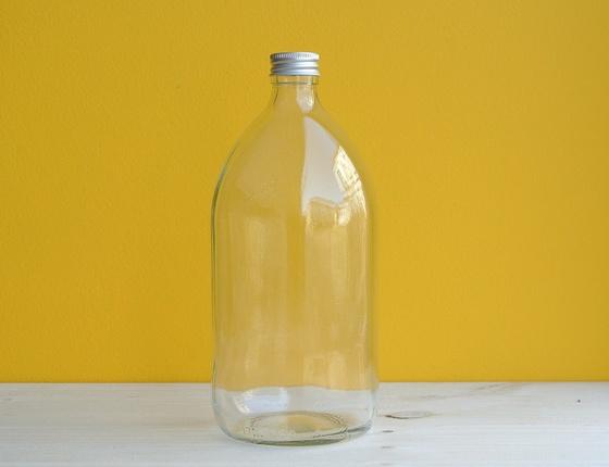 Flacon en verre transparent 1 litre