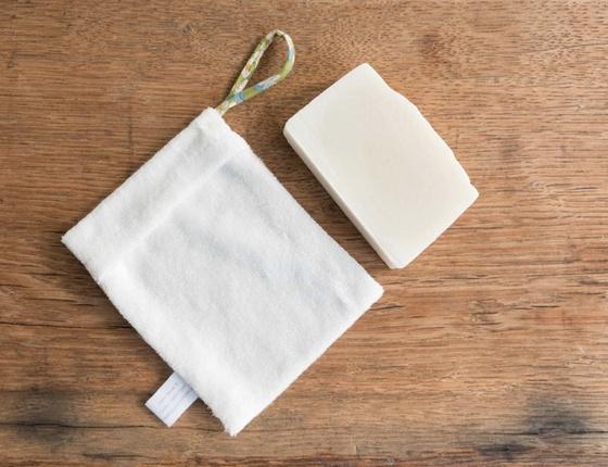 Pochette à savon en tencel