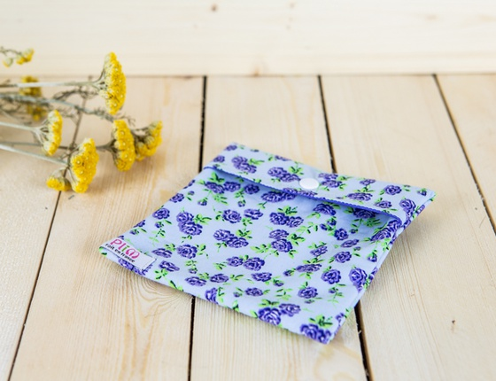 Pochette de rangement pour serviette hygiènique lavable
