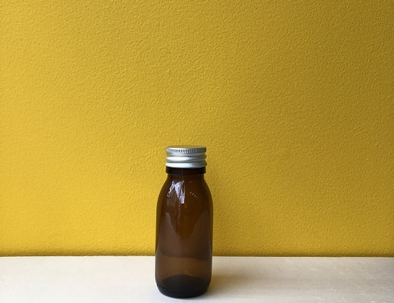 Flacon en verre teinté 60 ml