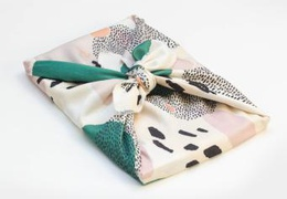Furoshiki emballage cadeau réutilisable motif Mantra