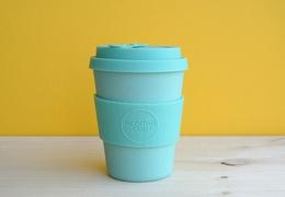 Tasse à café en bambou 350 ml turquoise