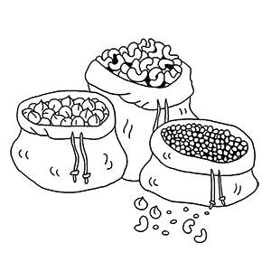 Produits alimentaires en vrac issus de l'agriculture biologique